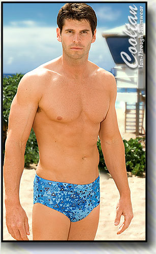 3eee4cef3ad Men's 4 inch racer style Swimsuits! Cooltan tan-through mens swimwear!