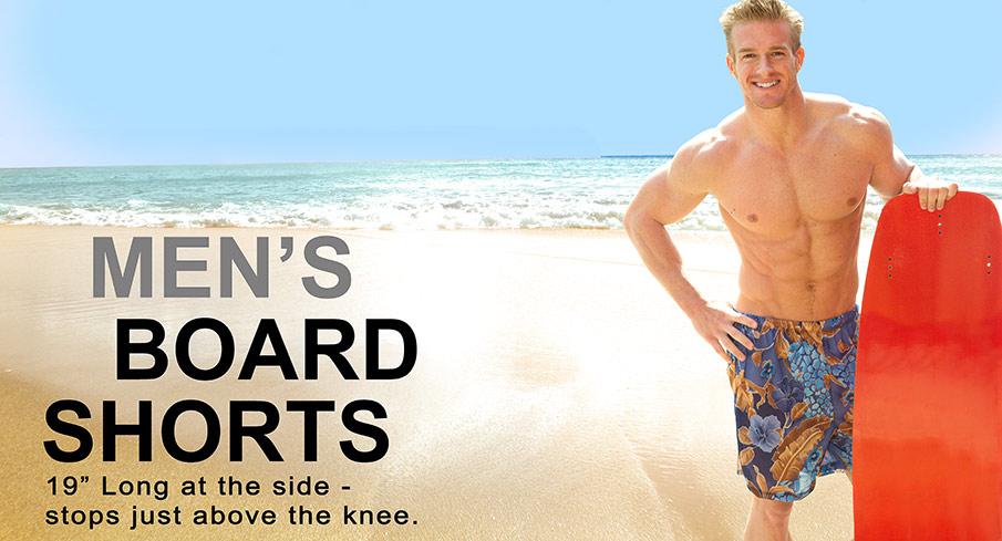 2fb17c60a7 Men's Board Shorts - Cooltan tan-through swimwear!